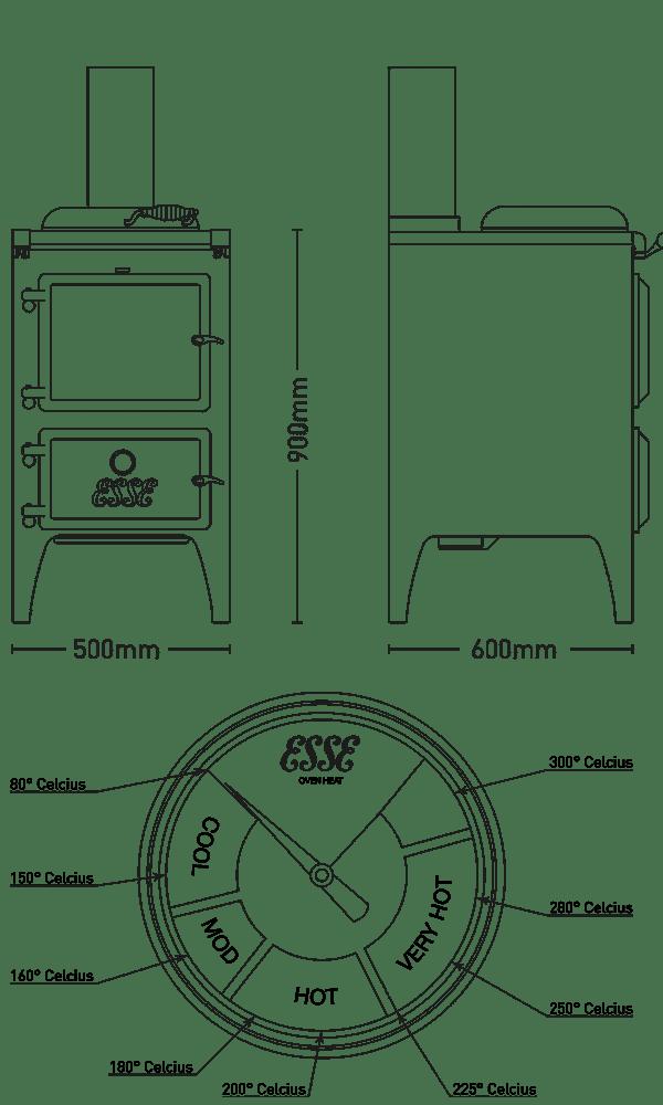 Bakeheart dimensions